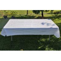 Cateringový stůl 180 cm + bavlněný ubrus bílý